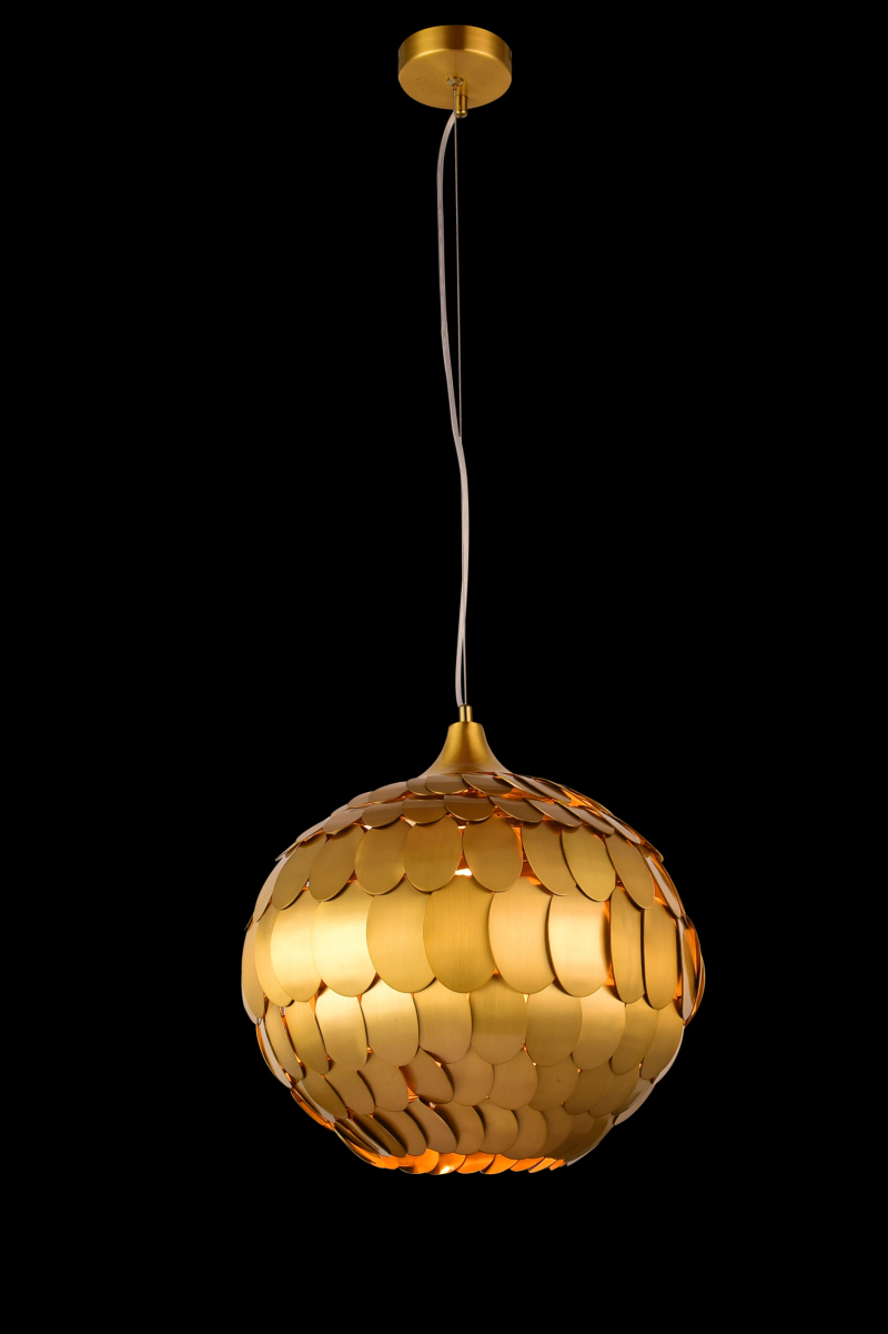 Round Ball Shape Brass Pendant Lamp