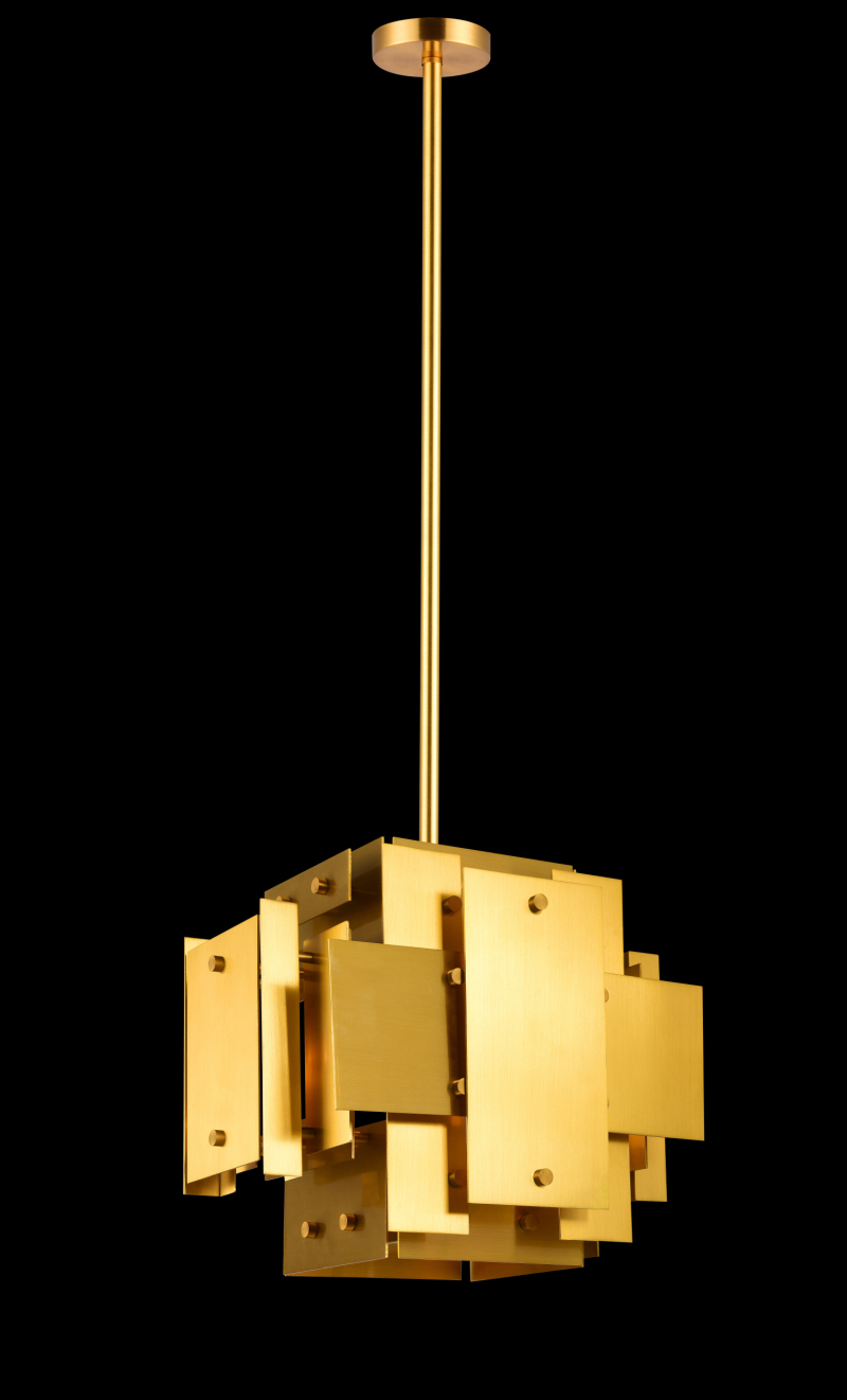 Irregular Shape Brass Pendant Lamp