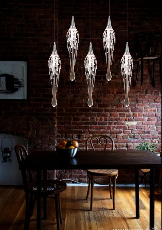 Metal + Crystal + Glass Chrome Finish Chandelier