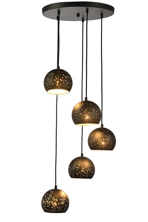 Hole Metal Pendant Lamp with 5